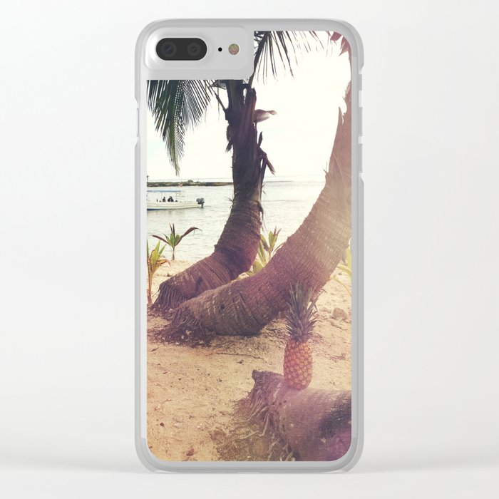 Tropical Wish Clear iPhone Case