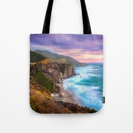 Big Sur Bixby Bridge Adventure Tote Bag