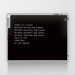Between rhythm and ground Laptop & iPad Skin