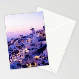 Santorini Night Stationery Cards