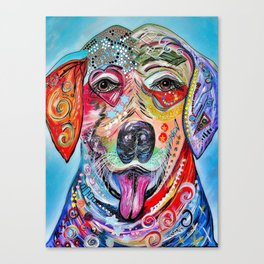 Laughing Labrador Canvas Print