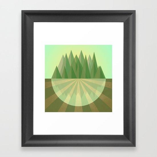 Reach your goals Framed Art Print