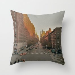 The Yellow Muted City (Color) Throw Pillow