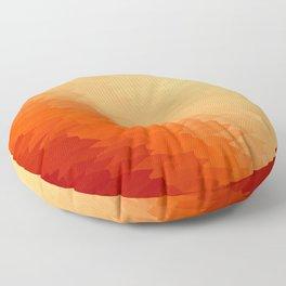 Orange Texture Ombre Floor Pillow