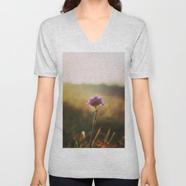 Macro Flower in the sunset, Unisex V-Neck