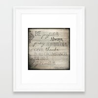 scripture Framed Art Prints featuring Vintage Look Scripture Sign by Lu Mae Designs