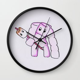 Mashmallow Golem Wall Clock