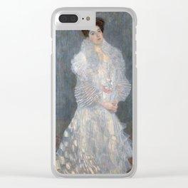 Gustav Klimt - Portrait of Hermine Gallia Clear iPhone Case