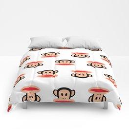 Julius Monkey Pattern by Paul Frank - White  Comforters