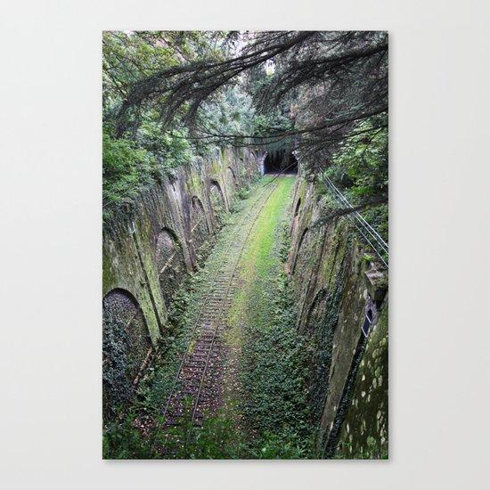 Green tunnel Canvas Print