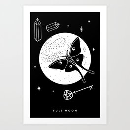 Full Moon Art Print