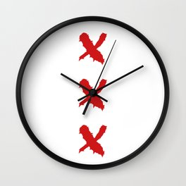 3 Kreuze machen - to be so relieved Wall Clock