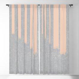 Blush stripes on concrete Blackout Curtain