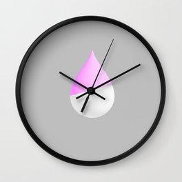 Purple Drop Wall Clock