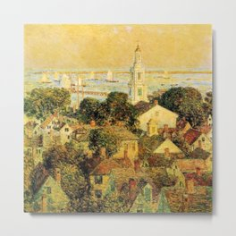 Classical Masterpiece 'Provincetown' by Frederick Childe Hassam Metal Print