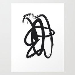 Brush Stroke On White #8 Art Print