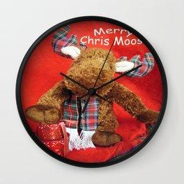 Merry Chris Moose Wall Clock