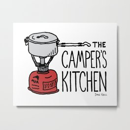 The Camper's Kitchen Metal Print