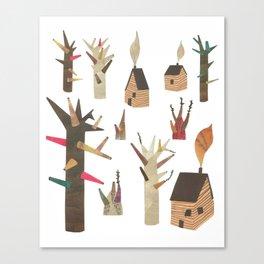 Houses Canvas Print