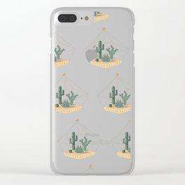 Tucson Arizona Cactus Terrarium Clear iPhone Case