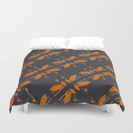 Orange chamomiles Duvet Cover