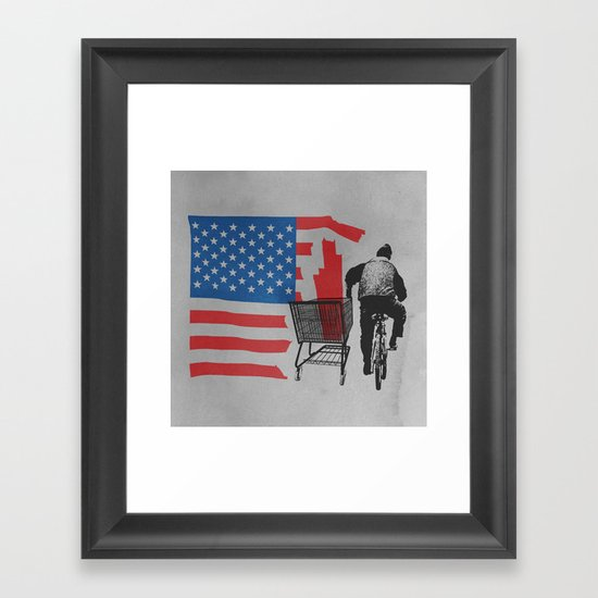 Scrapped Framed Art Print