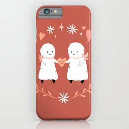 Ghostie Soulmates iPhone Case