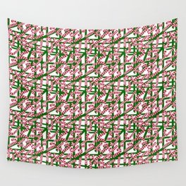 Squiggly Candy Canes for Christmas Wall Tapestry