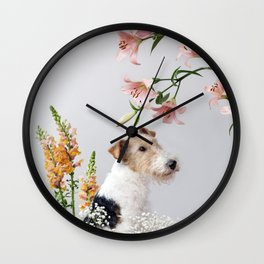 My baby sent me flowers Wall Clock