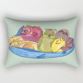 Fruit Bowl Animals Rectangular Pillow