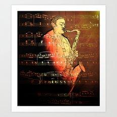 Pure Sax Art Print