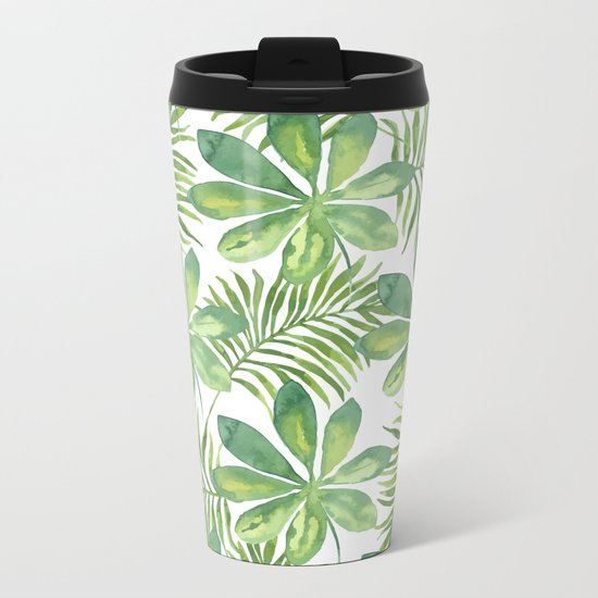 Tropical Branches Pattern 01 Metal Travel Mug