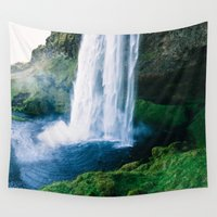 waterfall Wall Tapestries featuring Waterfall by StayWild