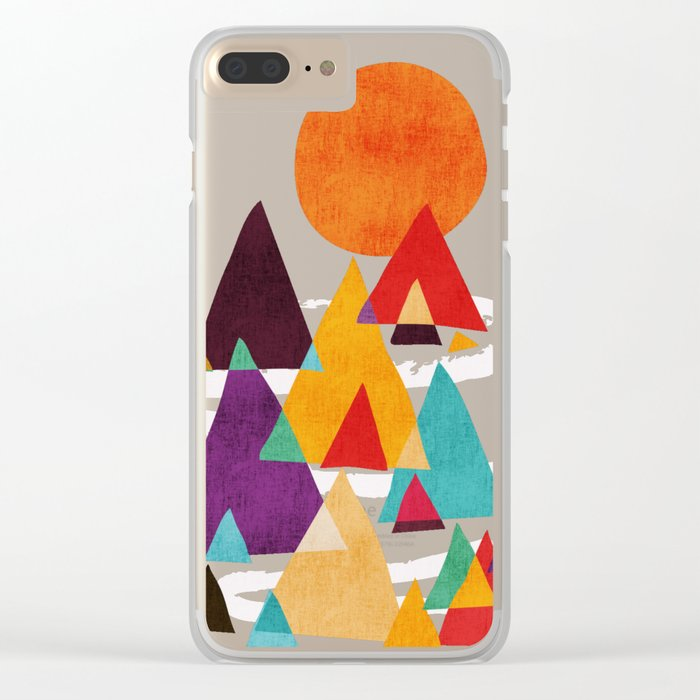 Let's visit the mountains Clear iPhone Case