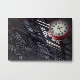 Red clock Metal Print