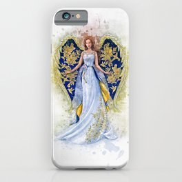 Floral Angel iPhone Case