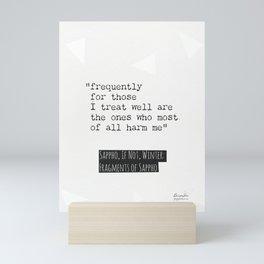 Sappho, If not, Winter, quote. 2 Mini Art Print