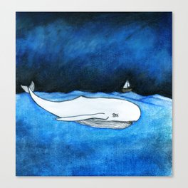 Seastorm over the whale Canvas Print