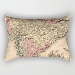 Map Of India 1857 Rectangular Pillow