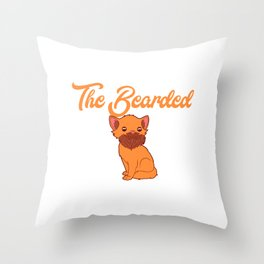 """Unique Adult Humor Shirt For Adults """"Respect The Bearded Pussy"""" T-shirt Design Naughty Fuck Sex Throw Pillow"""