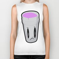 gucci Biker Tanks featuring Double Cup Sad by Grime Lab
