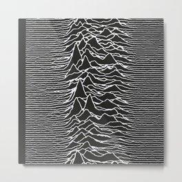 Joy Division Unknown Pleasures Pattern Metal Print