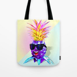 Pineapple Ultraviolet Happy Dude with Sunglasses Tote Bag