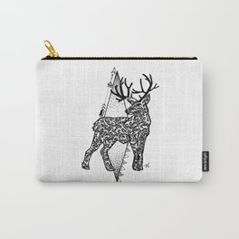 Black and white zentangle deer Carry-All Pouch