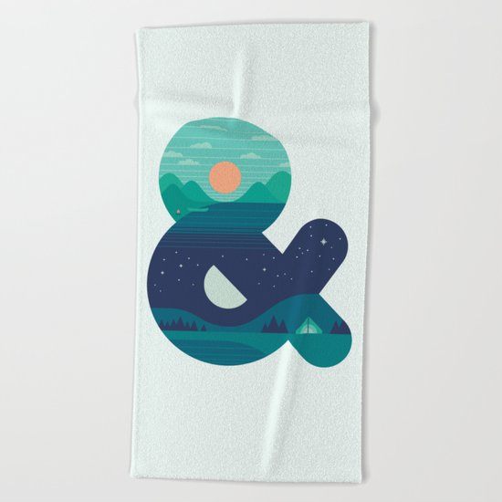 Day & Night Beach Towel