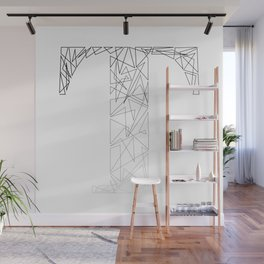 ''Geometry Collection'' - Minimal Letter T Print Wall Mural