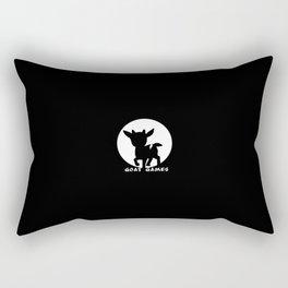 Goat Games Black&White Rectangular Pillow