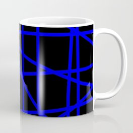 Doodle (Blue & Black) Coffee Mug