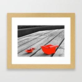 Pail and Shovel Framed Art Print
