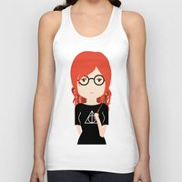 harry potter Tank Tops featuring Fan Girl Harry Potter by Creo tu mundo